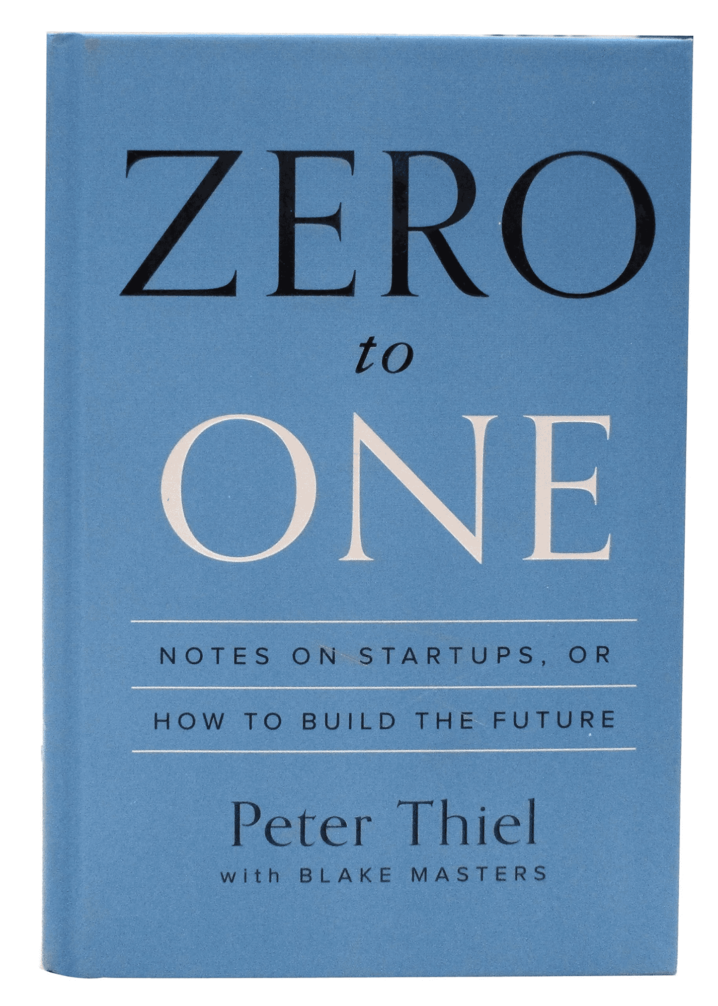 Zero to One by Peter Thiel book cover