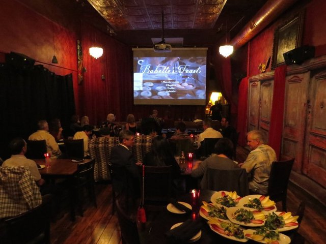 Movie Night at a Restaurant
