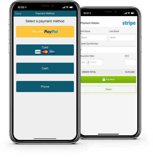 payment integration food ordering system