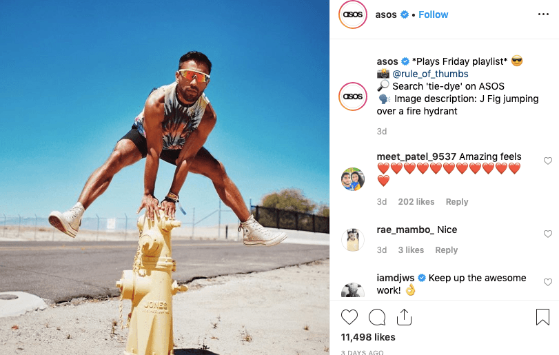 Asos Instagram Omnichannel Marketing Example
