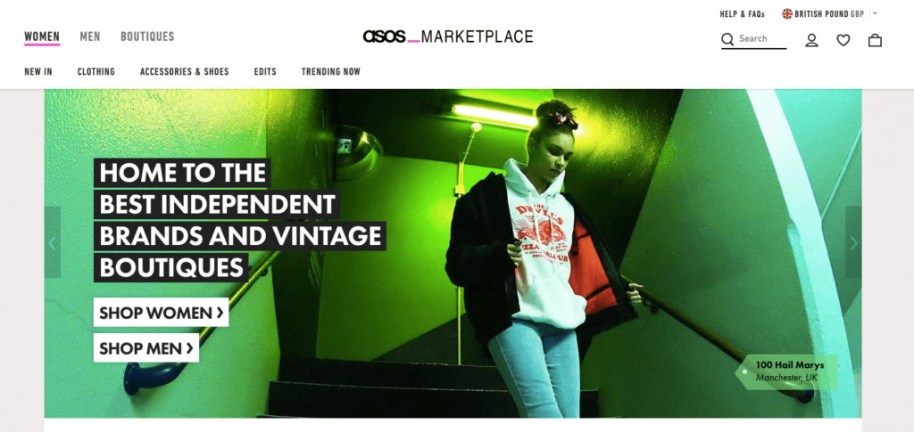 Asos Marketplace Omnichannel Marketing Example