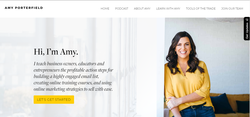 Amy porterfields website