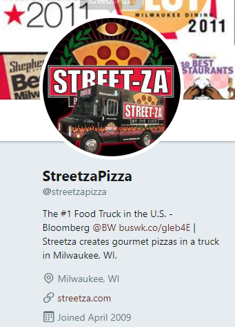 Food Truck Twitter Account