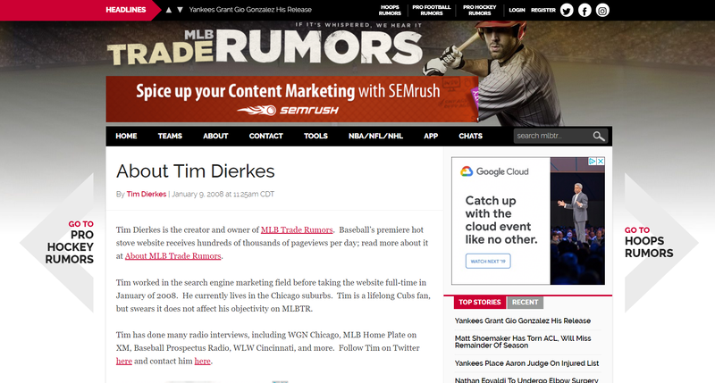 Tim dierkes' website