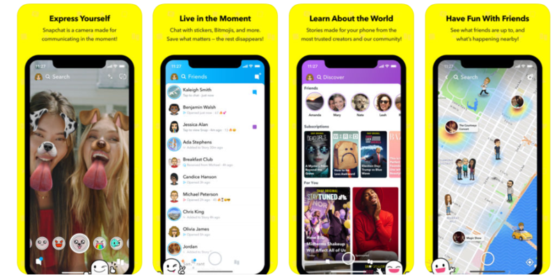 snapchat's screenshots on apple's app store