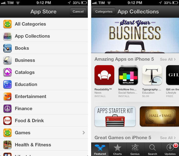 app store collections