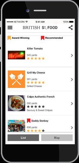 british street food truck app