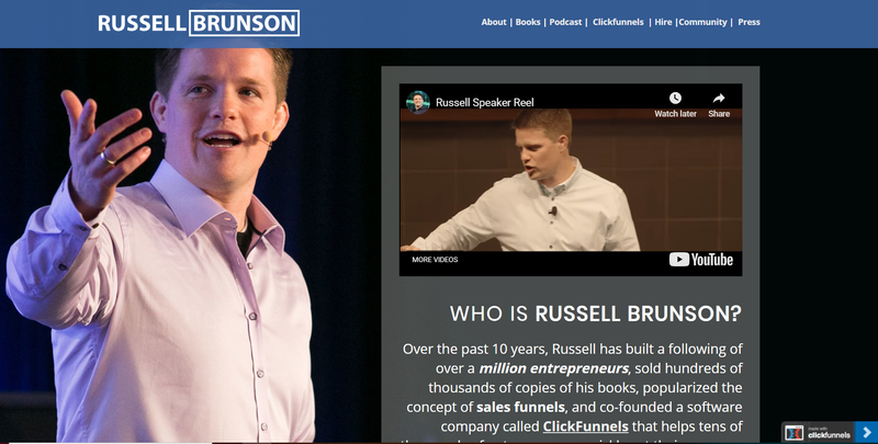 russell brunson's website