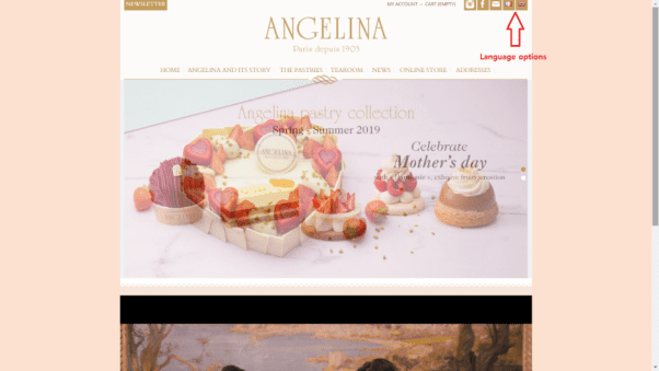 Angelina Restaurant Website
