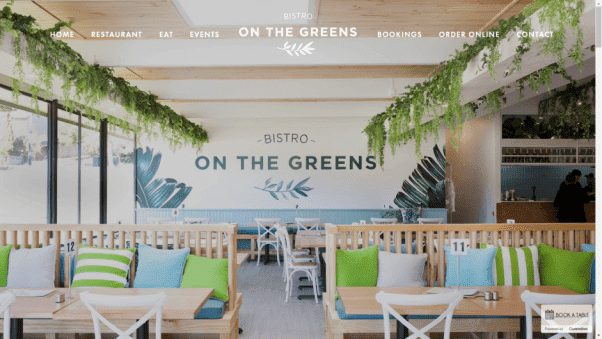 Bistro on the Greens Restaurant Website Design