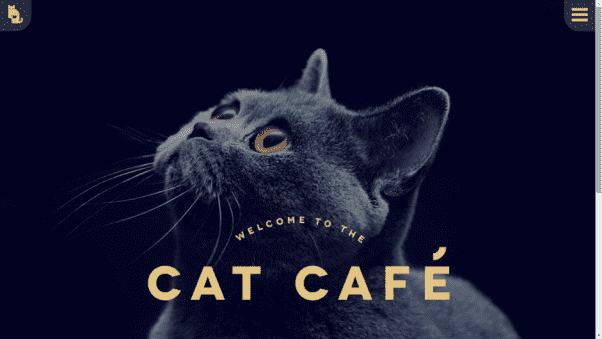 Cat Cafe Restaurant Website