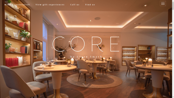 Core Restaurant Website
