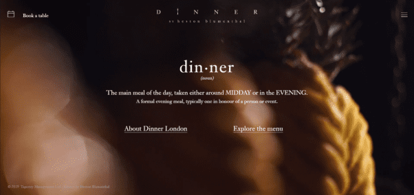 Dinner by Heston Blumenthal Restaurant Website