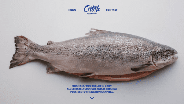 Catch Fish and Chips Restaurant Landing Page