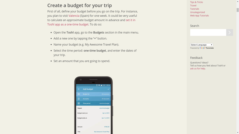 budget app marketing landing page