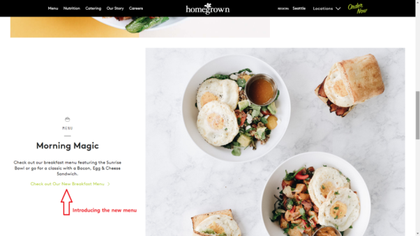 homegrown restaurant website