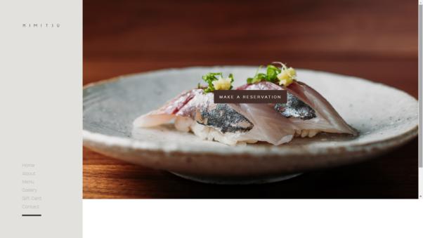 himitsu restaurant website