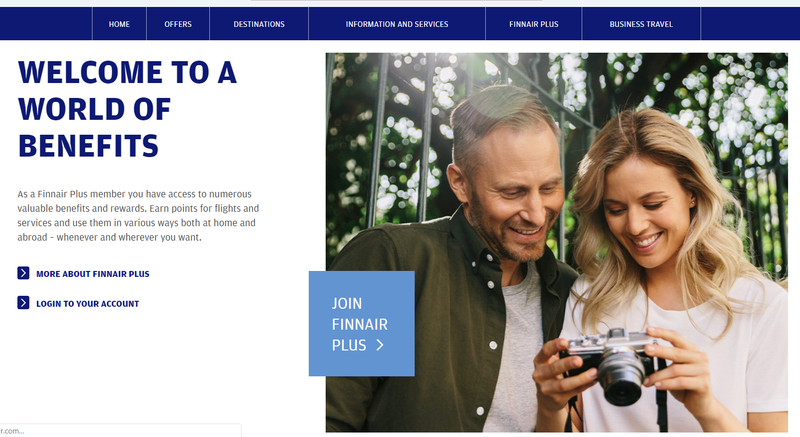 airline loyalty reward program landing page