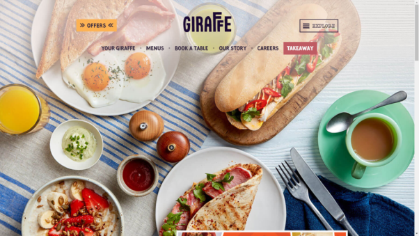 giraffe restaurant website