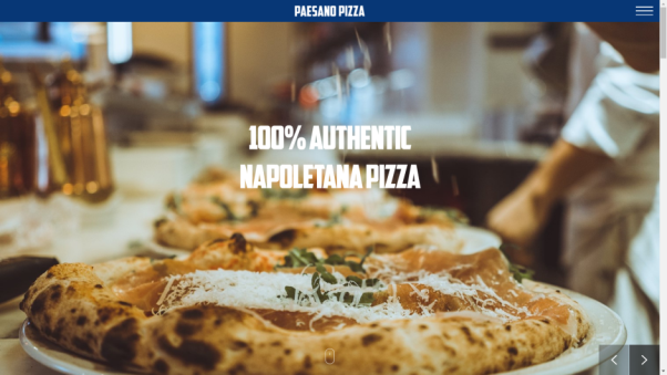 paesano restaurant landing page