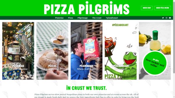 pizza pilgrims restaurant website design