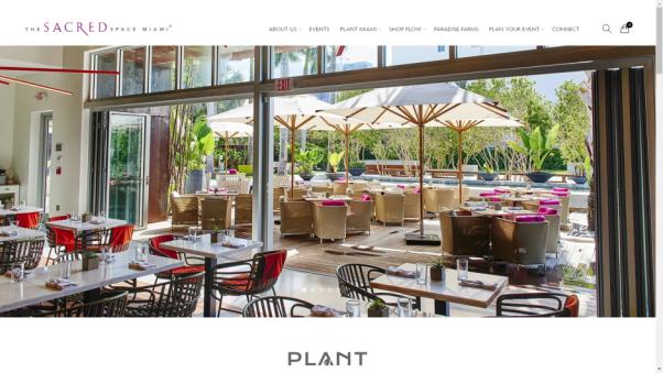 plant miami's restaurants landing page