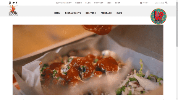 Leon Restaurant Landing Page