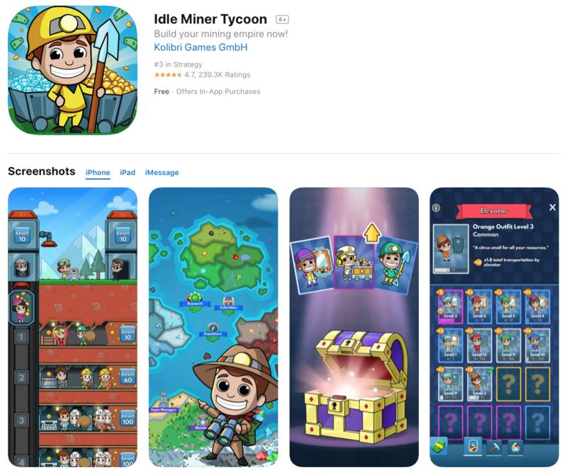 miner tycoon app store optimization