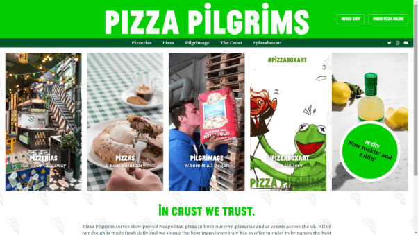 Pizza Pilgrims Restaurant Website Design