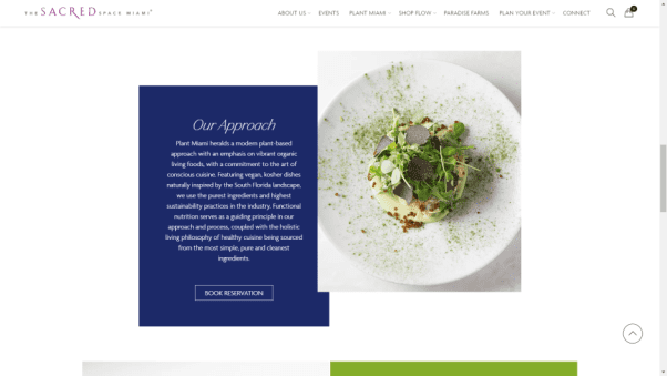 Plant Miami's Restaurant Website