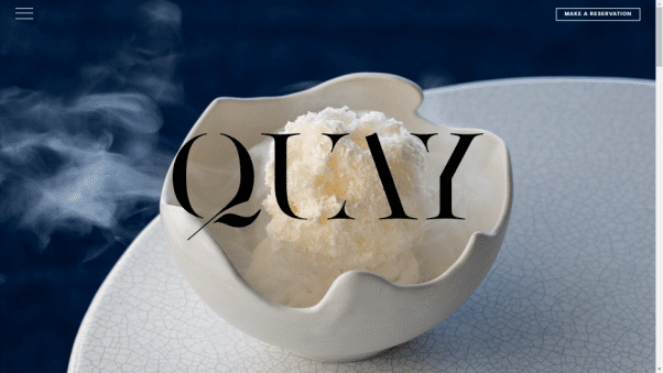 Quay Restaurant Website