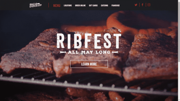 Ribcrib Restaurant Website Design