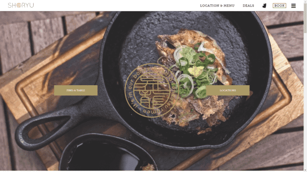 ramen restaurant landing page