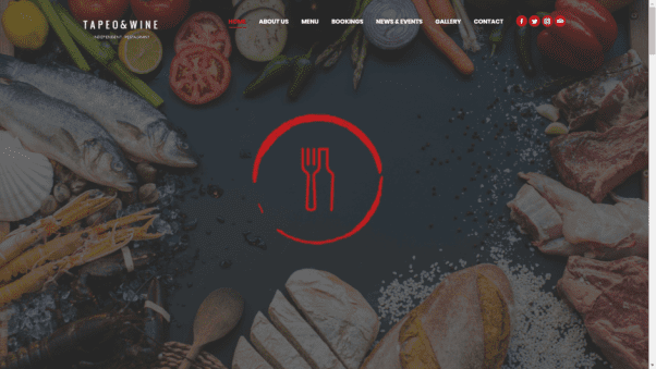 Tapeo and Wine Restaurant Website