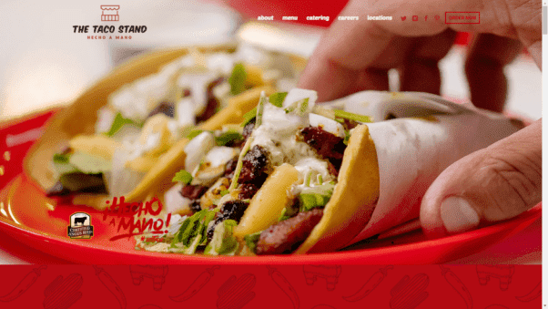 The Taco Stand Restaurant Landing Page