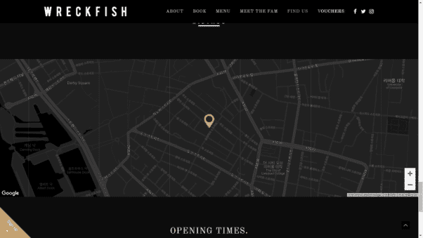 Wreckfish Restaurant Website Design