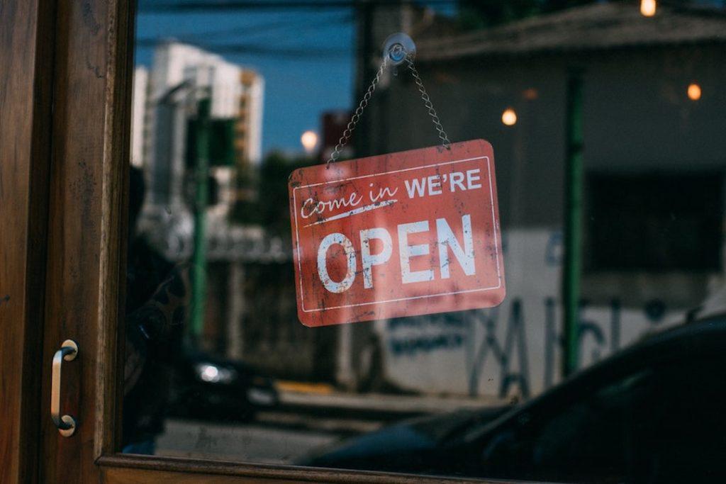 salon open sign