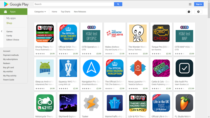 Google Play Store Displaying All the Paid Apps