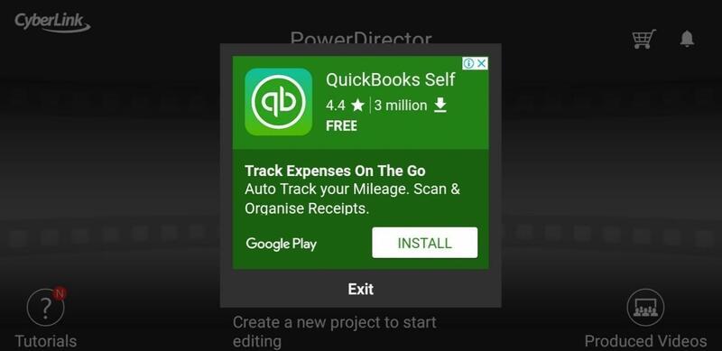 Quickbooks Green App Ad Pop Up