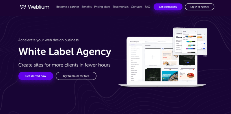 White Label Web Development Landing Page