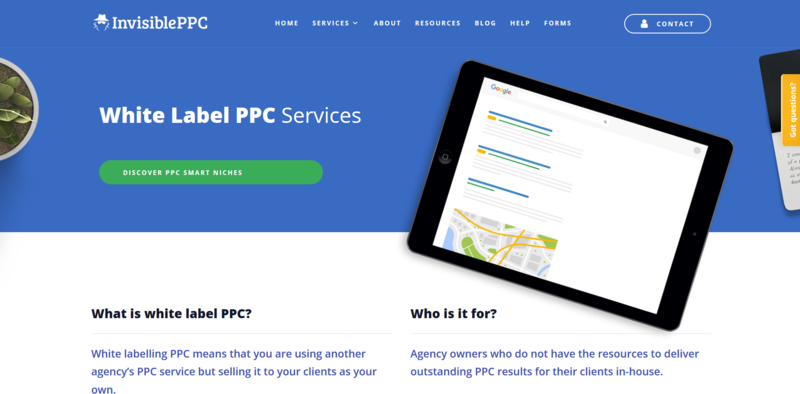 White Label PPC Agency Homepage
