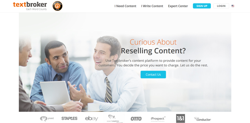Written Content Agency Homepage