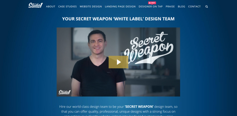 Design White Label Service Homepage