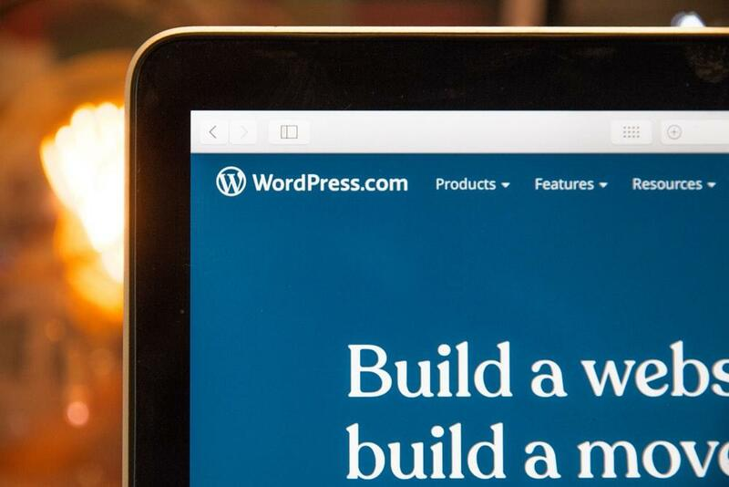 WordPress Website on a Macbook