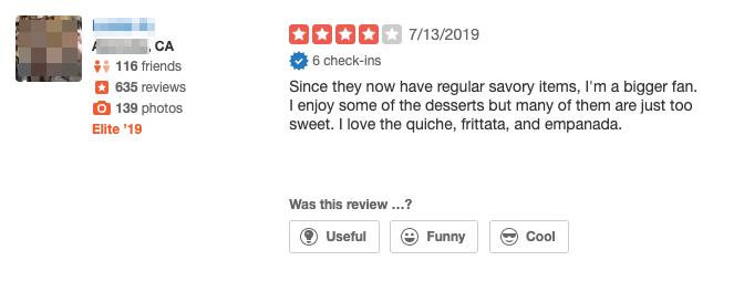 Review for a Restaurant Screenshot