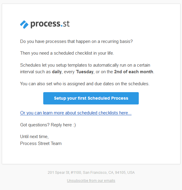 Automated Email From Process.St