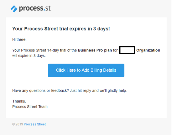 Last Automated Email Reminding the Subscriber About Their Expiring Trial