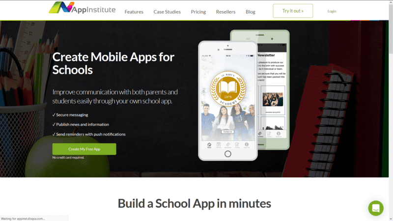 homepage of appinstitute