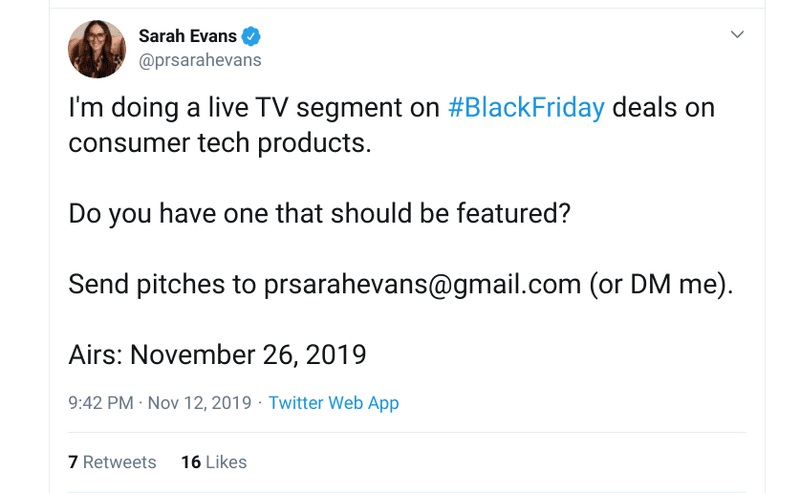 twitter black friday deals tweet