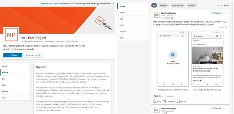 Digital Marketing Agency LinkedIn Profile